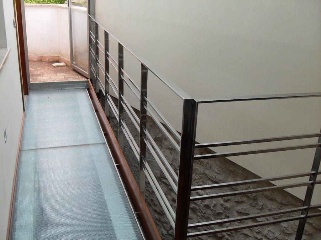 barandilla acero inoxidable de diseño para interiores
