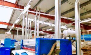 CONDUCTOS ventilación maquinaria industrial.