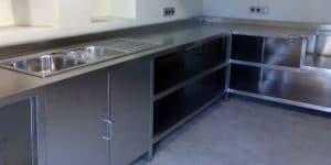 fabricación de muebles en acero inoxidable para cocina industrial de hostelería