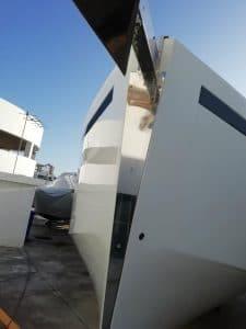 FABRICACIÓN proa embarcación en acero inoxidable aisi 316 5mm