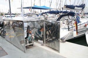 Fabricante de mobiliario en acero inoxidable para puertos y marinas