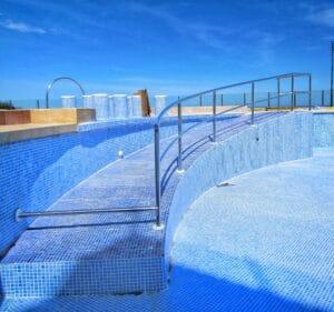 Barandilla para piscina realizada por Extivent