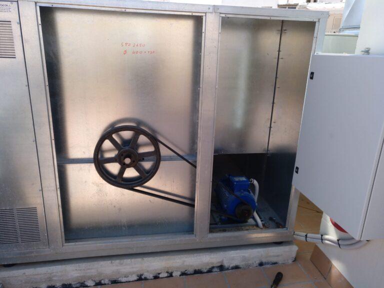 servicio técnico Ventiladores industriales 400º/2h con correas y poleas.