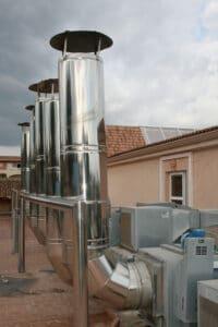Batería de ventiladores de cocinas de extracción y aportación de aire. hvac