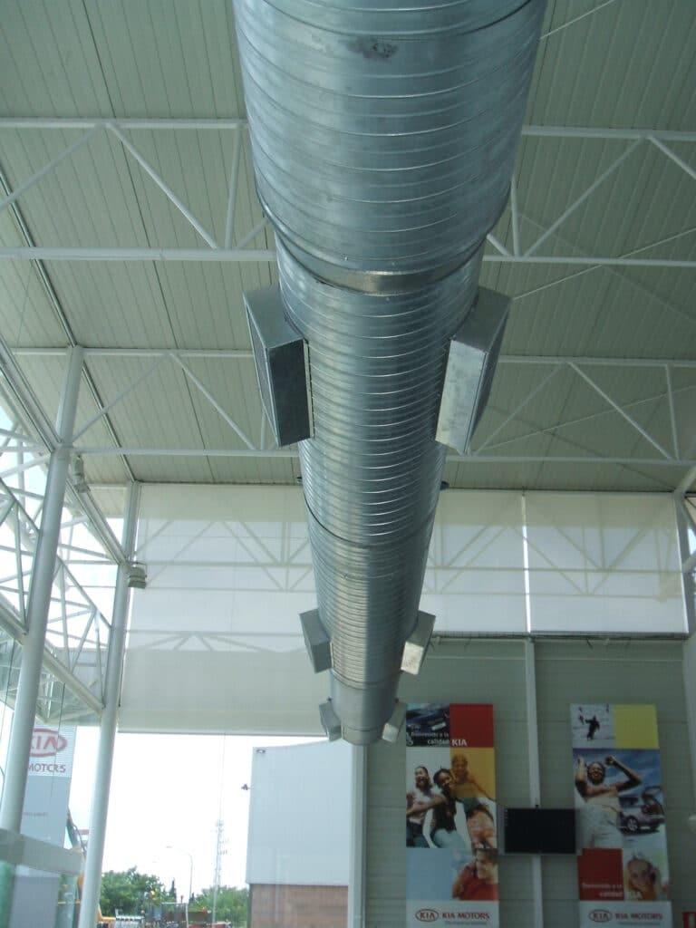 TUBOS aire acondicionado nave industrial.