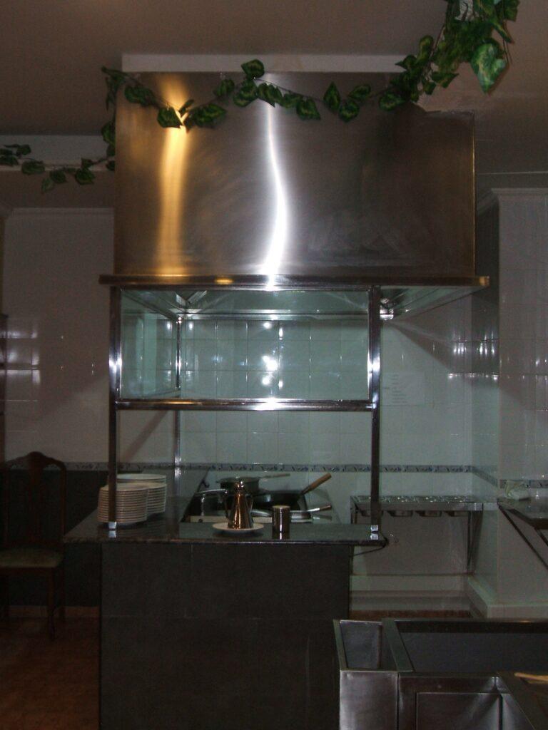 extracción de humos CAMPANA EXTRACTORA restaurante asiatico