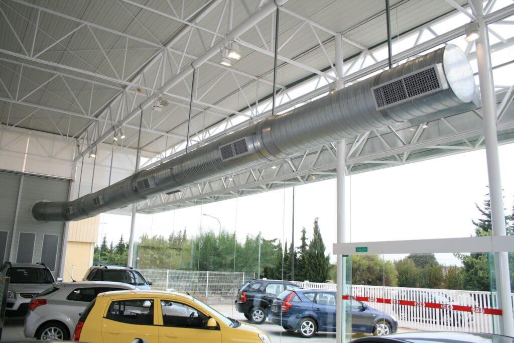 Tubos de chapa HVAC aire acondicionado redondos.