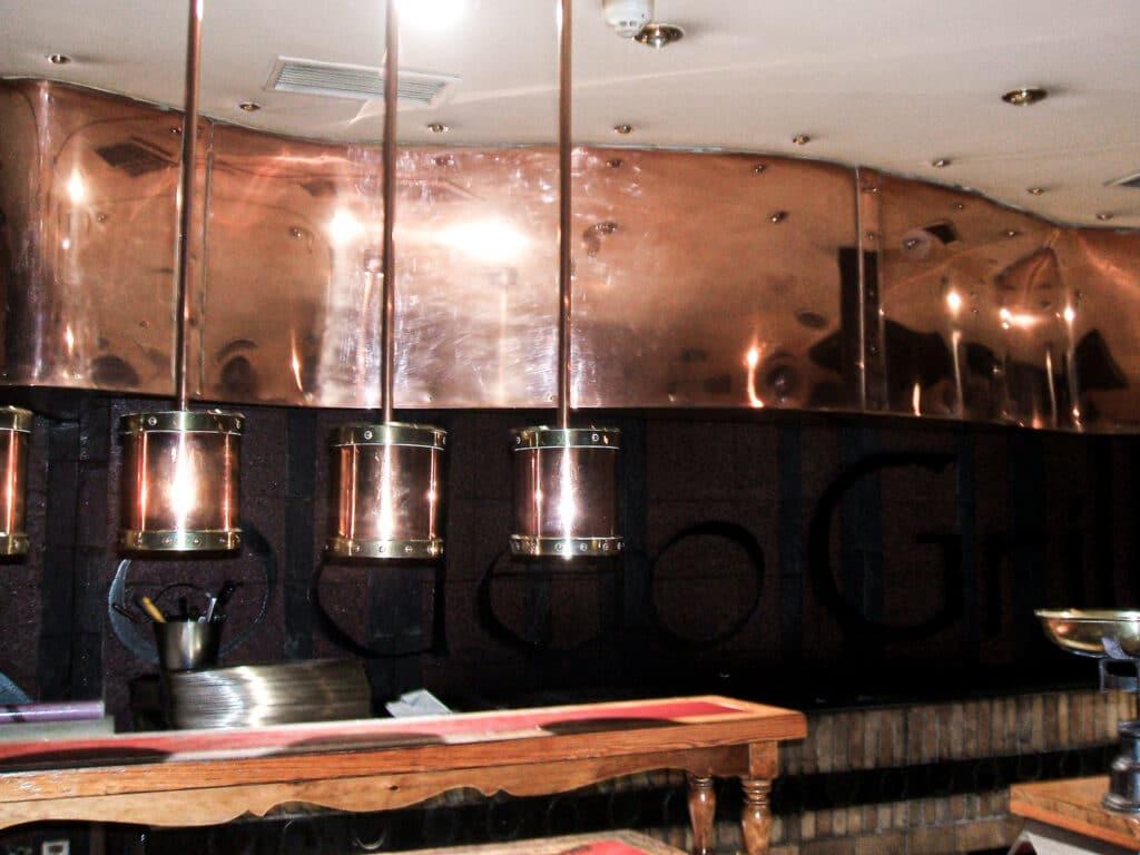 campana de cocina de cobre