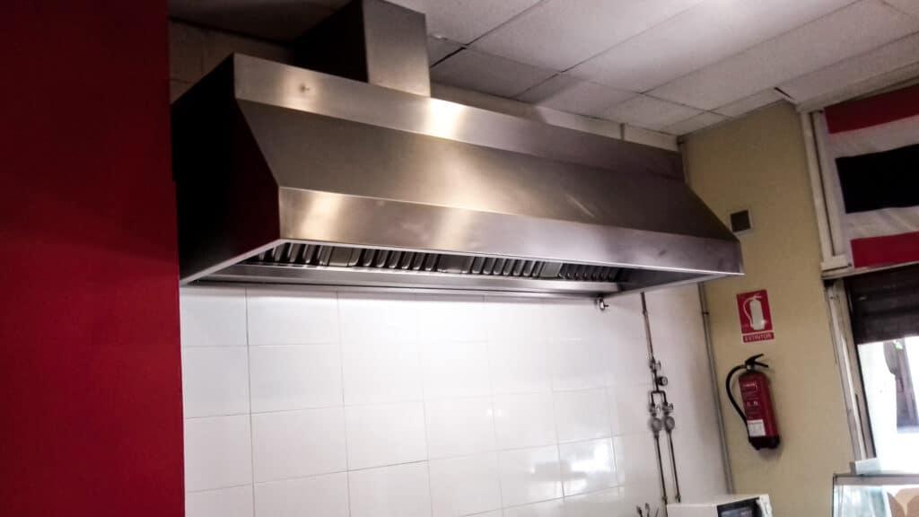 campana extractora humos cocina