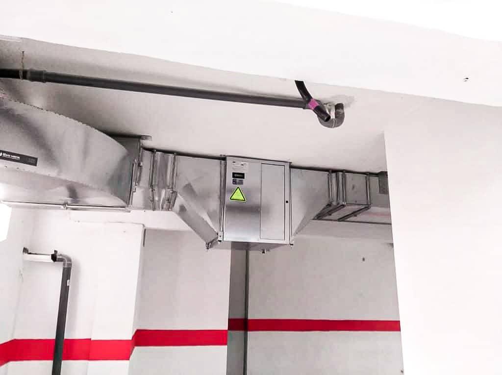 normativa ventilación garajes mallorca CE